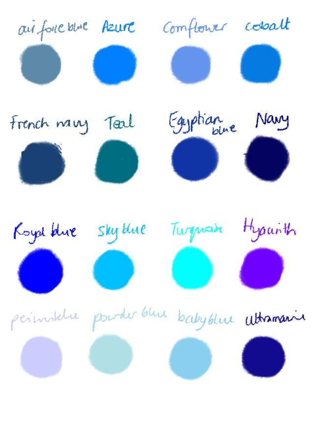 Shades Of Blue Color Names Gilliansblogwordpress 2011 01 Images