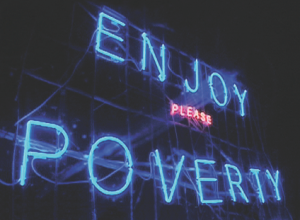 Enjoy Poverty: a still from the film